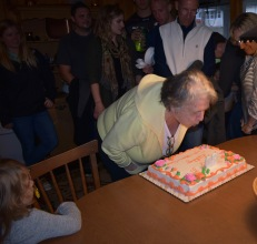 Still able to blow out the candles at 80!